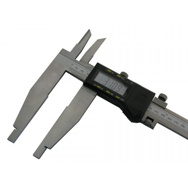 Suwmiarka elektroniczna dwustronna z suwakiem pomocniczym